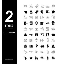 simple line icons black friday vector image