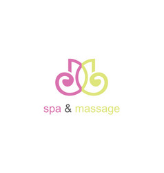 spa massage logo vector image