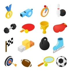 Sport isometric icons vector
