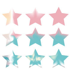 Star gradients meshes kit vector