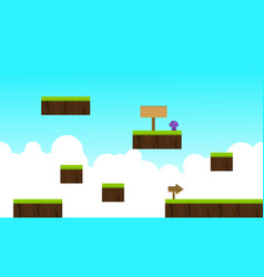 Style game background on the sky vector