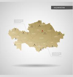 Stylized kazakhstan map vector
