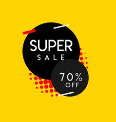 Super sale 70 special off template design vector