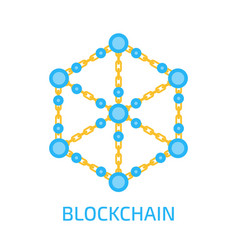 technology of blockchain concept vector image