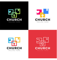 Template christian logo emblem for school college vector