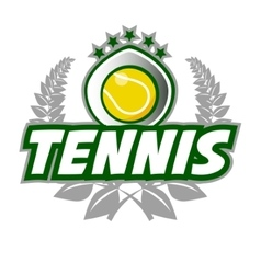Tennis Badge Logo Template with ball and laurel vector image
