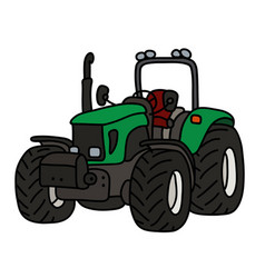 The green open tractor vector