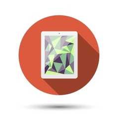 The icon with the tablet vector image