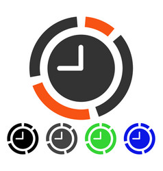 Time diagram flat icon vector