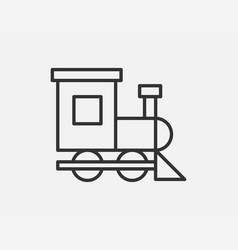 train toy icon on white background line style vector image