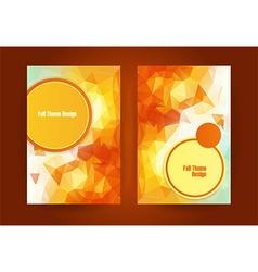 triangular orange fall season theme vector image