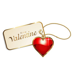 valentine s day heart brilock vector image