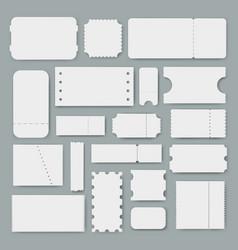 various blank tickets empty mockups vector image