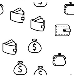 wallet icon seamless pattern vector image