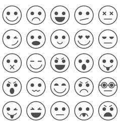 Set of Emoticons Set of Emoji vector image vector image