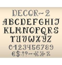 Vintage decorative english alphabet vector image vector image