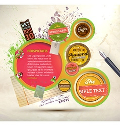 Abstract Label Set vector image vector image