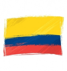 grunge Colombia flag vector image vector image