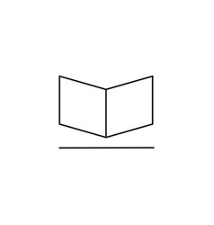 opened book icon vector image