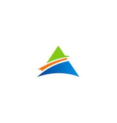 triangle pyramid business logo vector image