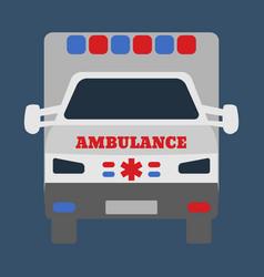 ambulance car medical object flat icon vector image vector image