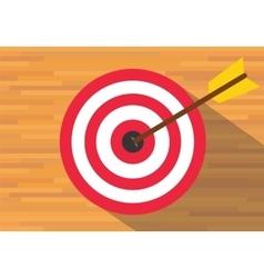 goals target board bullseye vector image vector image
