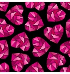 Heart shape symbols isolated on black background vector image vector image