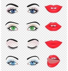 Beauty female eye and lip vector image vector image