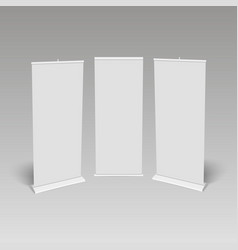 blank roll-up banner display vector image