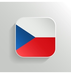 Button - Czech Republic Flag Icon vector image vector image