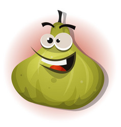 comic funny fig character vector image