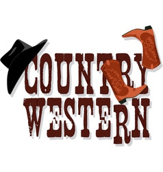 Country Western banner vector image vector image