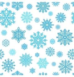 Winter snowflake pattern vector image
