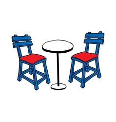 A table with chairs vector image