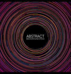 Abstract colorful random circular lines background vector