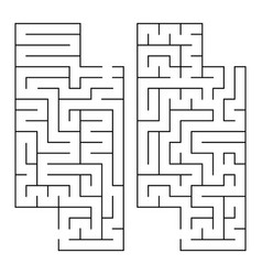 Abstract rectangular isolated labyrinth black vector