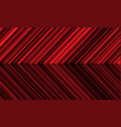 abstract red metallic shadow arrow direction vector image