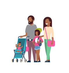 african father mother daughter baby son in vector image
