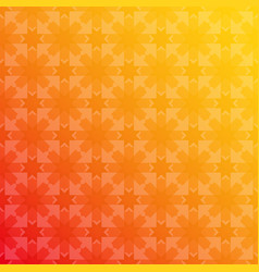 arabesque geometric seamless floral red yellow vector image
