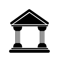 bank building icon vector image
