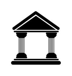 bank building icon vector image