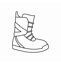 Boot for snowboarding icon outline style vector image