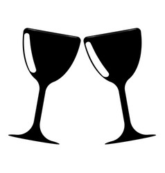 bowl and glass two items icon black color icon vector image