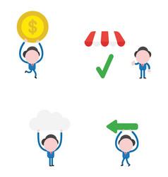 businessman character set vector image