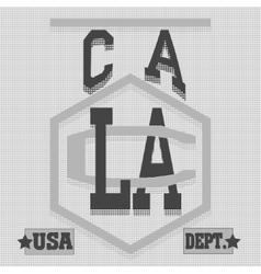California College fashion design print for t vector