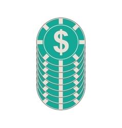 Casino money chips vector