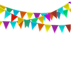 celebration carnival party background with flags vector image