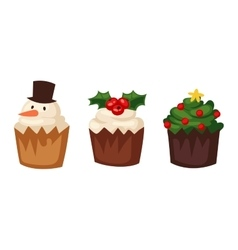 Christmas cake isolated icon vector image