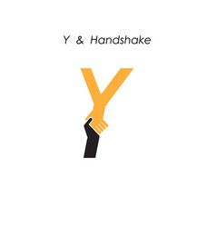 Creative y letter icon abstract logo design vector