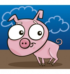 cute piggy vector image vector image
